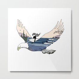 """ Flying High "" Metal Print"