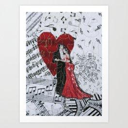 Romantic Ballroom Dancers Art Print