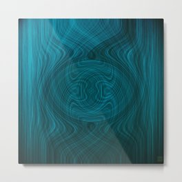 Disturbance in water Metal Print