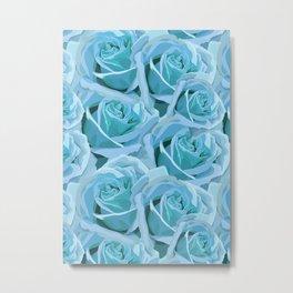 Antique Blue Rose Metal Print