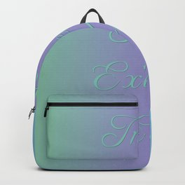 Inhale Peace, Exhale Ease Backpack