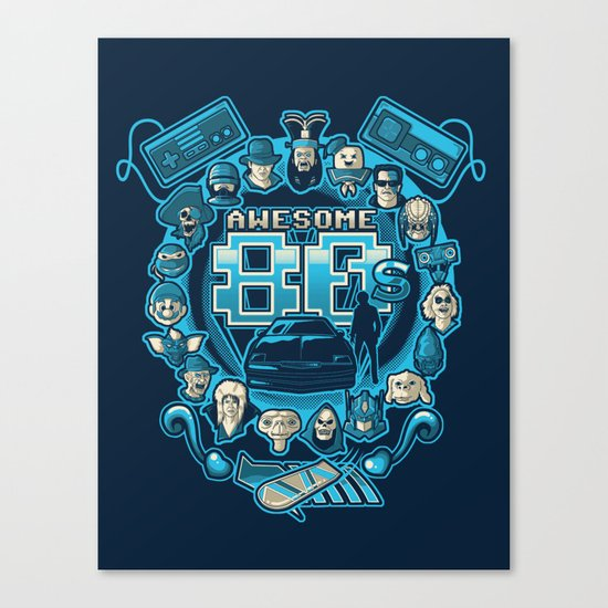 AWESOME 80s Canvas Print