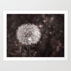 Big Bang (Cosmic Dandelion) Digital Photo Composition Art Print