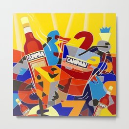 Vintage Cordial Campari Limited Edition Advertisement Poster #6 of 8 originally limited to 70 by Ugo Metal Print