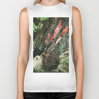 waterfall Biker Tanks featuring waterfall by Caroline A