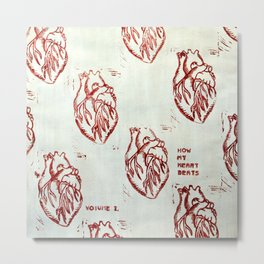 How My Heart Beats, Volume 1. Metal Print