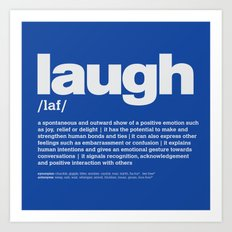 definition LLL - Laugh 6 Art Print