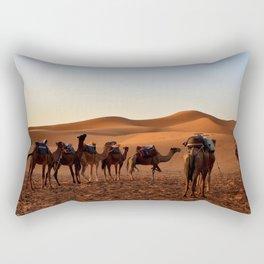 Group of Camels Resting Rectangular Pillow