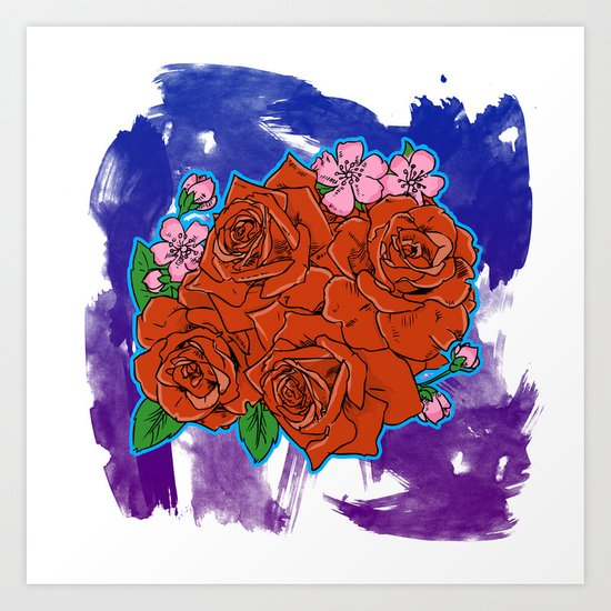 Roses are... Art Print