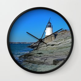 Lighthouse in Newport, RI Wall Clock