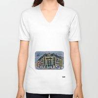 switzerland V-neck T-shirts featuring Geneva -  Switzerland by Vehen§Nes