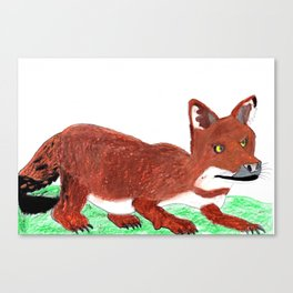 Crouching Dhole Canvas Print