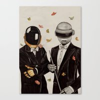 daft punk Canvas Prints featuring Daft Punk by The White Deer