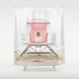Pink Tower 6 Shower Curtain
