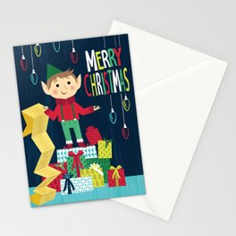 Merry Christmas - Elf Christmas Card Stationery Cards