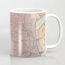 Vintage Map of Omaha Nebraska (1903) Coffee Mug