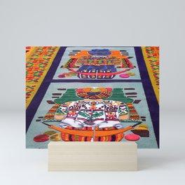 Guatemalan Alfombras Mini Art Print