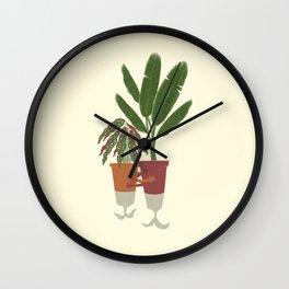 Hug-plants 01  Wall Clock