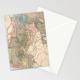 Vintage Map of The Roman Empire (1838) Stationery Cards