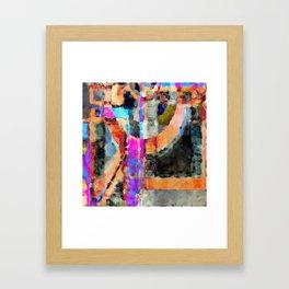 Artful Spirit Mosaic Colorful Geometric Abstract Framed Art Print