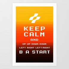 keep calm konami. Art Print