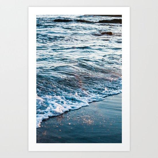 Beautiful ocean waves Art Print