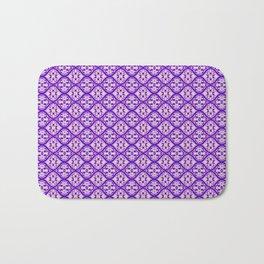 tie dye lattice in purple Bath Mat