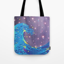 Great Wave in checked pattern_I Tote Bag
