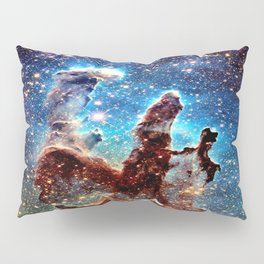 The Pillars of Creation Blue Brown Pillow Sham