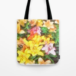 Lilies Love and Light Tote Bag