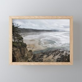 Lookout Point near Otter Rock Framed Mini Art Print