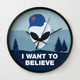 I WANT TO BELIEVE - METS Wall Clock