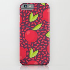 Hand drawn floral elements and garnets iPhone 6s Slim Case