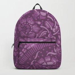 Several flowers illustration in violet color ready for clothes,cases,furnitures,art Backpack