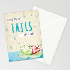 Frog Nap Stationery Cards