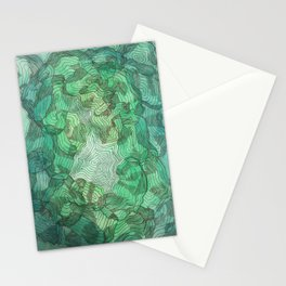 Green Blobs Stationery Cards