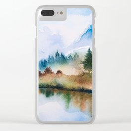 Winter scenery #16 Clear iPhone Case