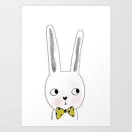 rabbit bow  Art Print
