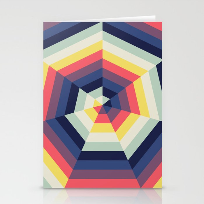 Heptagon Quilt 2 Stationery Cards