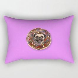 Pug Chocolate Donut Rectangular Pillow