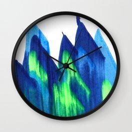 Northern Lights Abstract Painting V2 Wall Clock
