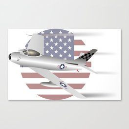 US Air Force F-86 Sabre Jet Fighter Canvas Print