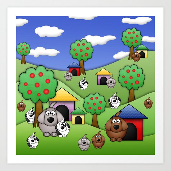 Billy, Bob & Fido.  Art Print
