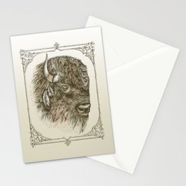 Portrait of a Buffalo Stationery Cards