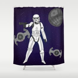 storm trooper Shower Curtain
