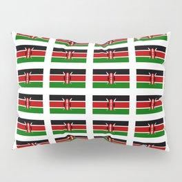 Flag of Kenya -kenyan,kenia,rift valley,serengeti,kilimanjaro,nairobi,mombasa Pillow Sham