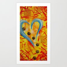 Spaghetti and Meatballs a Love Story Art Print