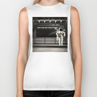 astronaut Biker Tanks featuring Astronaut by eARTh