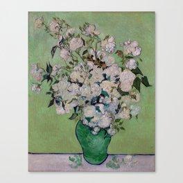 Vincent van Gogh Vase with Pink Roses Canvas Print