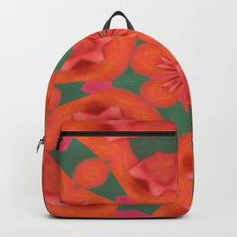 Succulent Red and Yellow Flower Abstract 2 Backpack